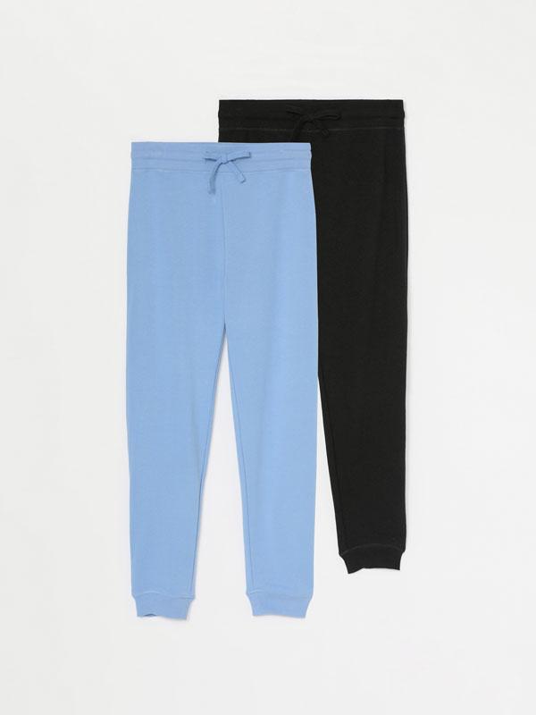 Pack de 2 calças de fato de treino básicas