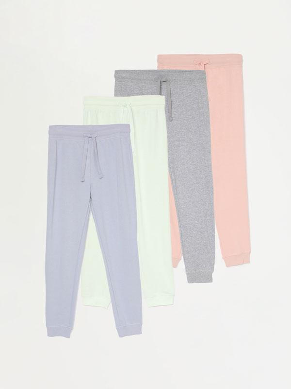 Pack de 4 pantalóns básicos