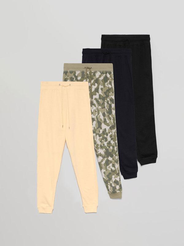 Pack de 4 calças básicas