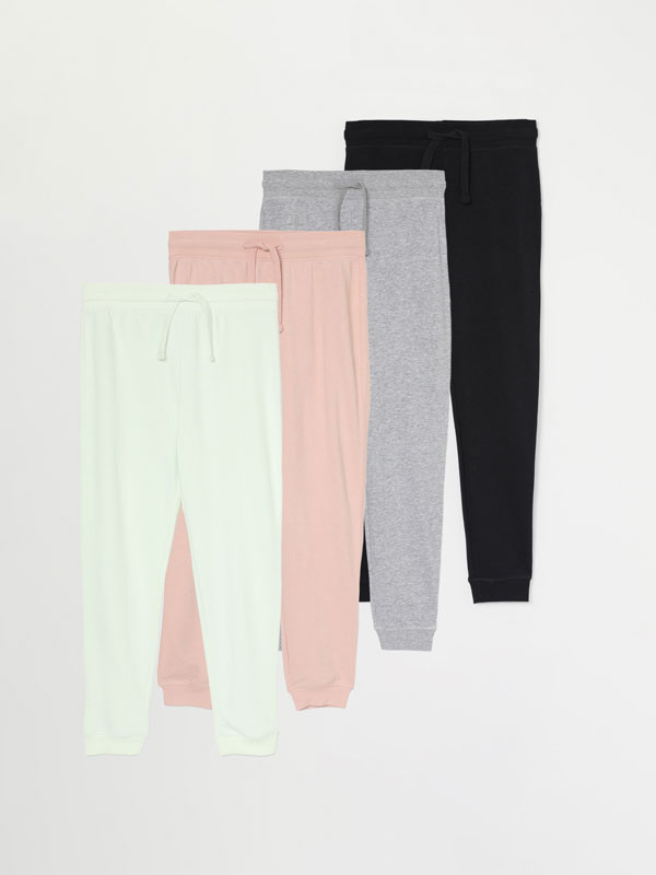 Pack of 4 basic trousers