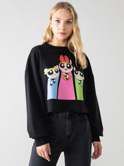 Sweatshirt cropped das Powerpuff Girls © &™ WARNER BROS