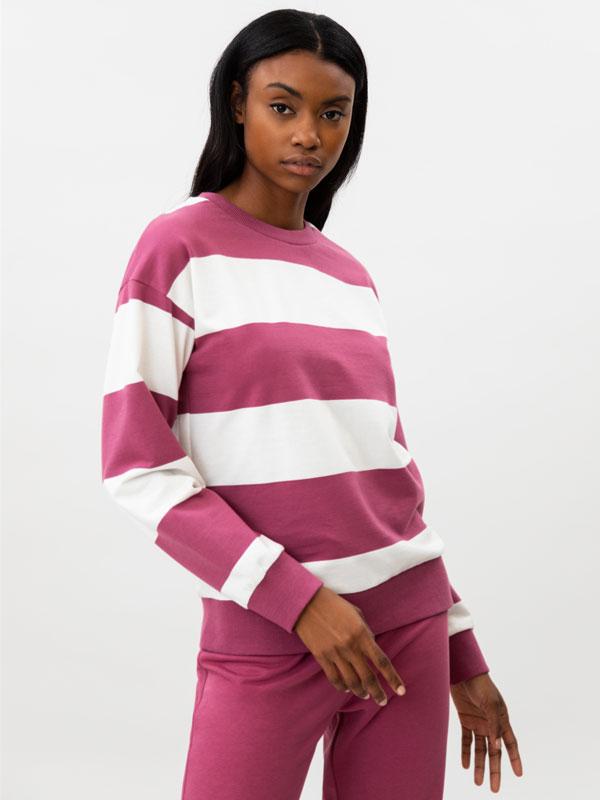 Basic striped sweatshirt