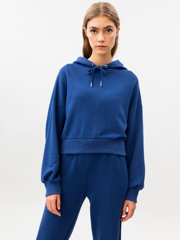Cropped tracksuit sweatshirt