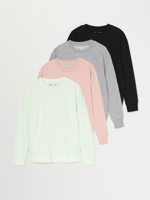 Pack de 4 sweatshirts básicas