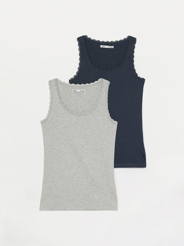 Paquet de 2 samarretes de tirants amb punta