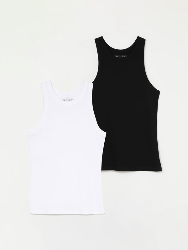 Pack de 2 t-shirts sem mangas