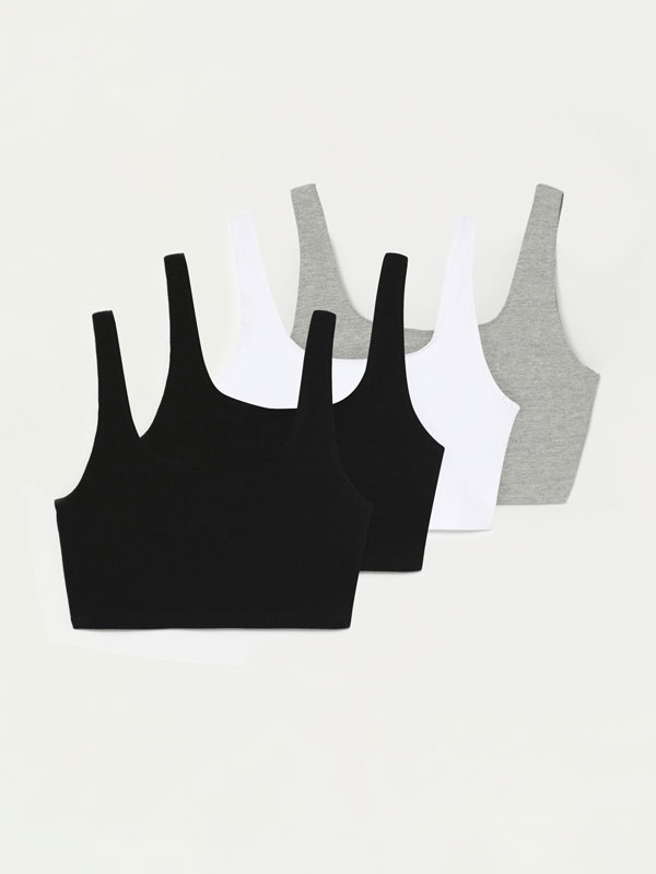 4-pack of crop tops