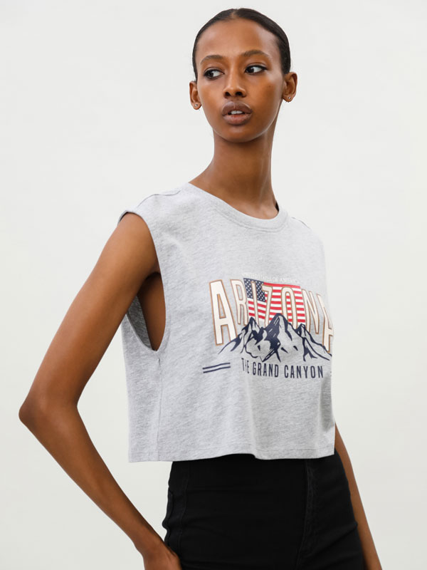 Top cropped oversize
