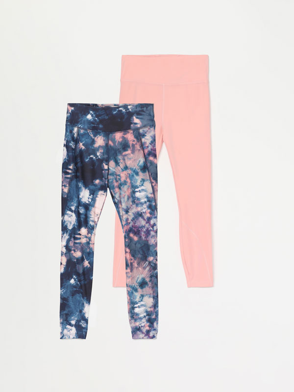 Pack de 2 leggings esportius.