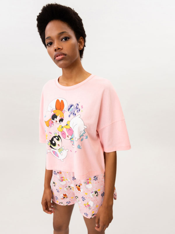 Conjunto de pijama curto de Powerpuff Girls © &™ WARNER BROS
