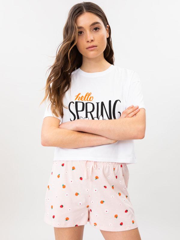 Short floral pyjama set