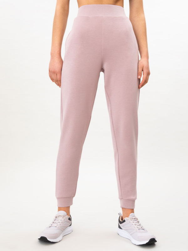 Soft-touch sporty jogging trousers