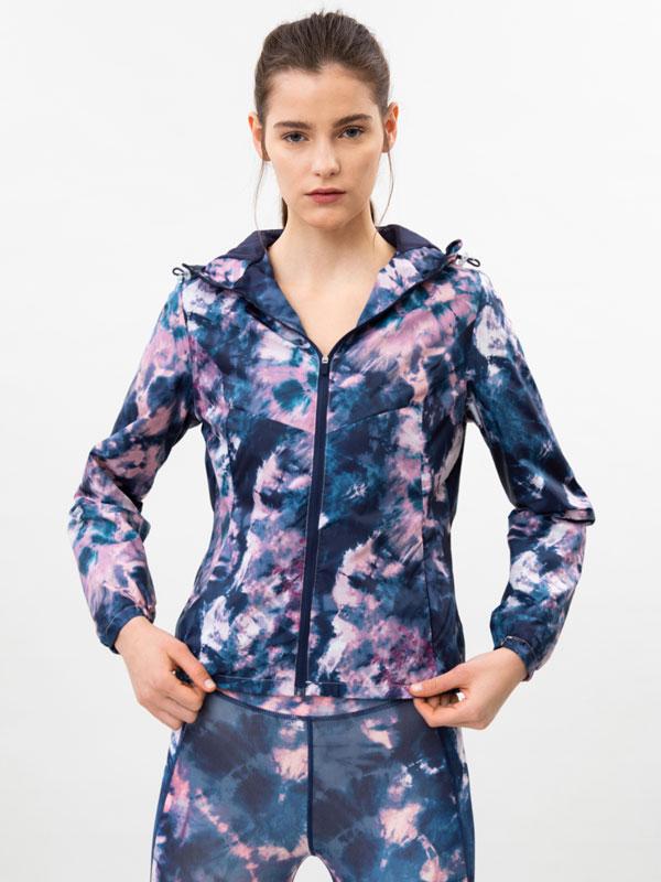 Printed sports windbreaker jacket