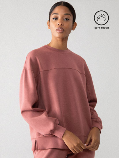 Soft-feel sweatshirt