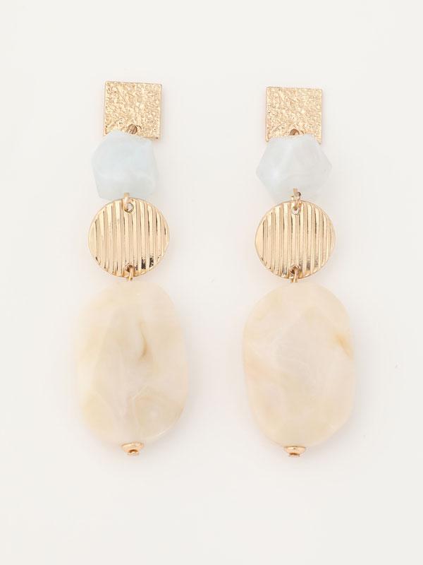 Quartz-effect earrings
