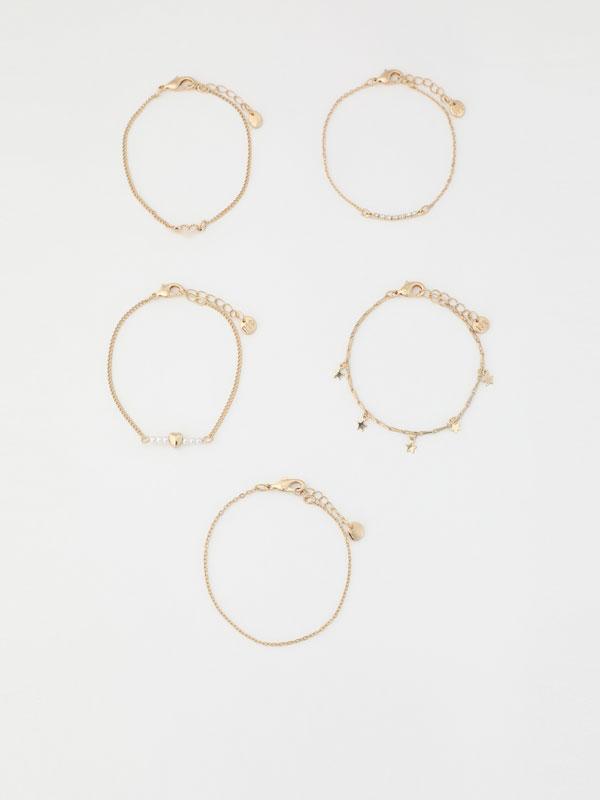 Pack de 5 pulseiras combinadas