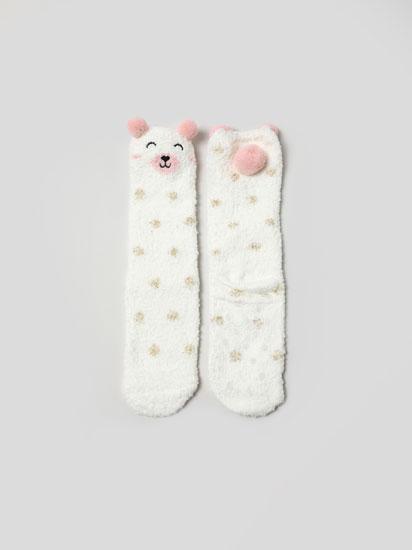 Par de calcetíns antiesvarantes de oso