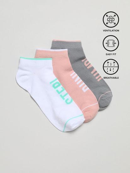 Pack de 3 pares de meias desportivas