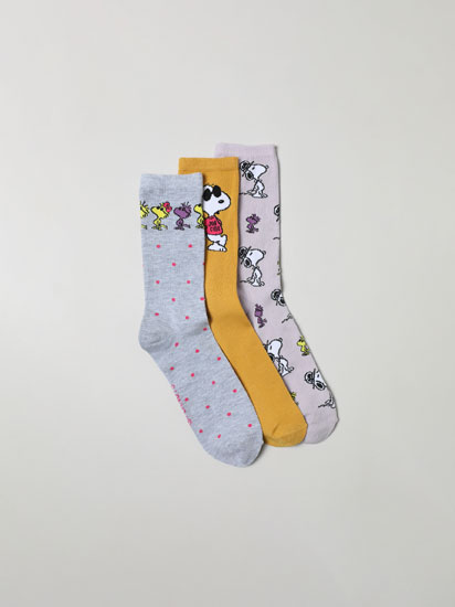Pack de 3 calcetines largos Snoopy™ (Peanuts™)