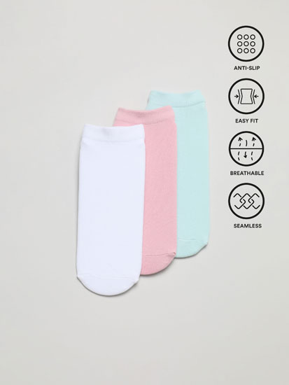 Pack of 3 pairs of yoga ankle socks