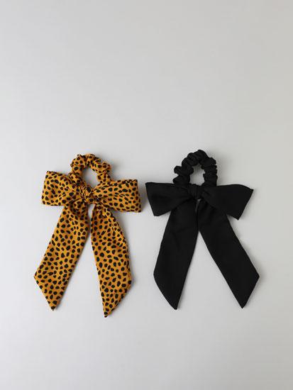 Pack de 2 scrunchies estampados