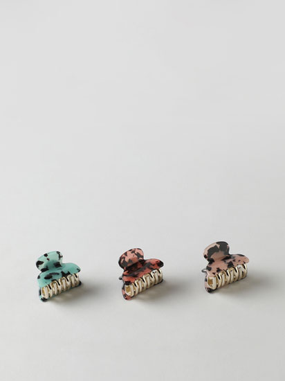 3-pack of printed hair clips