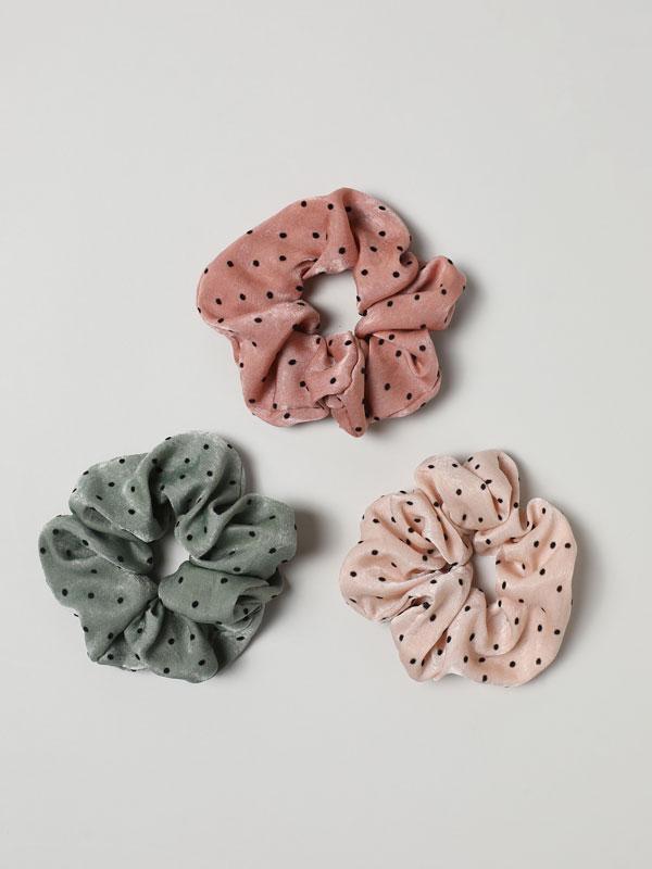Pack de 3 elásticos de cabelo estampados