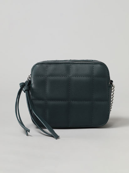 Quilted bag with double compartment