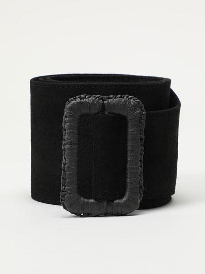 Cinturón ancho de antelina