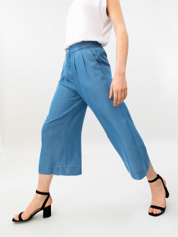 Lyocell culotte jeans