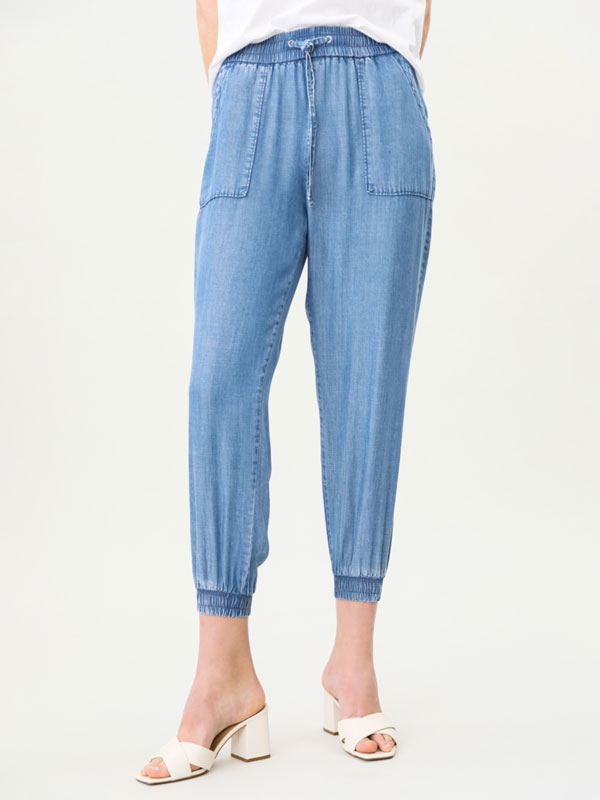 Lightweight denim joggers