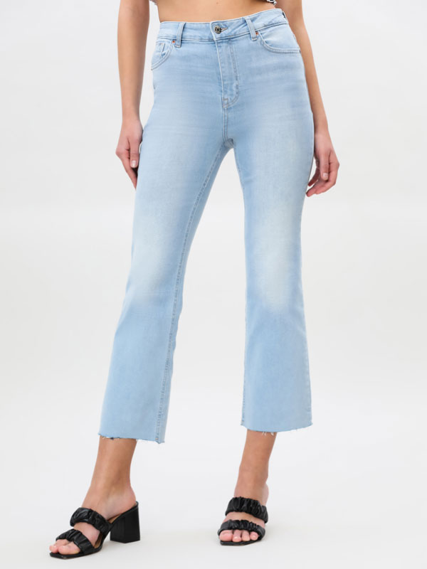 Mini flared jeans