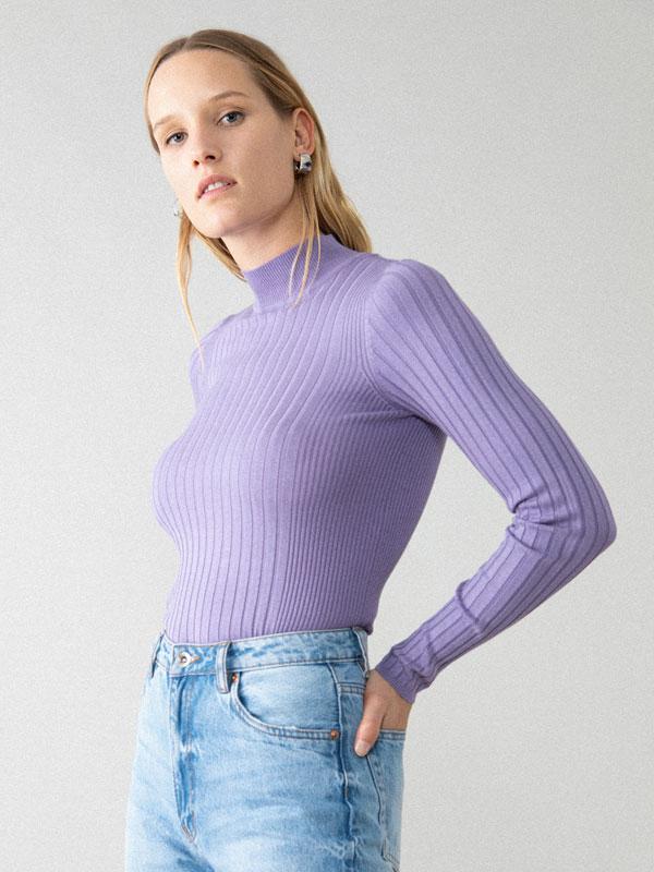 Basic high neck sweater