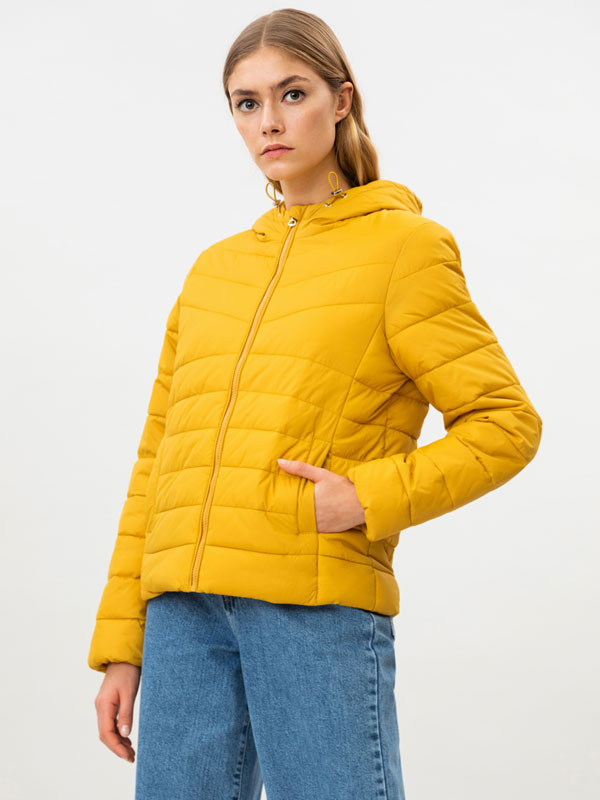 Basic hooded puffer jacket