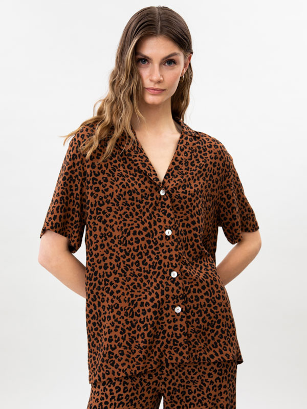 Camisa de màniga curta estampada