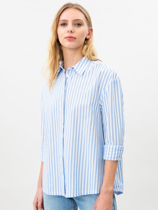 Camisa de popelín oversize