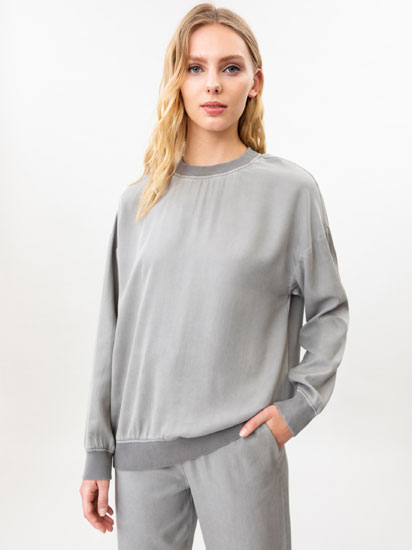 Loose-fitting Lyocell sweatshirt