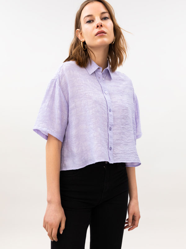 Short sleeve oversize shirt