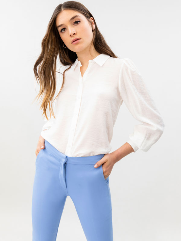 Trousers with an elasticated back