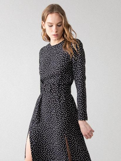 Vestido comprido com cinto