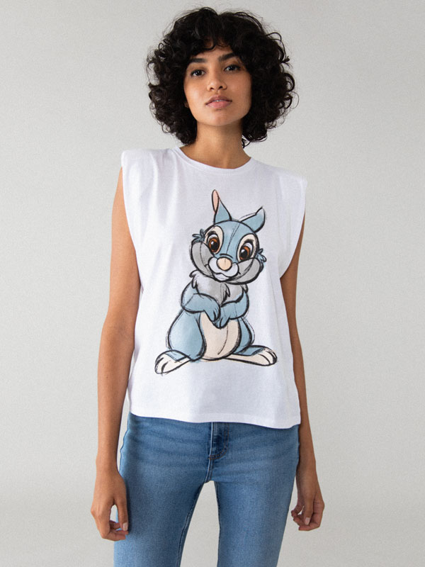 ©Disney T-shirt with shoulder pads