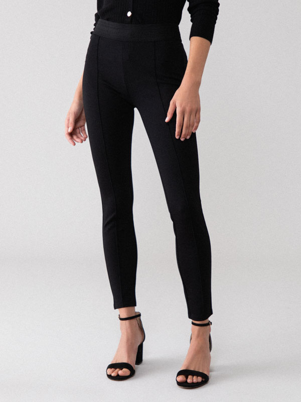 Basic leggings with elastic waistband