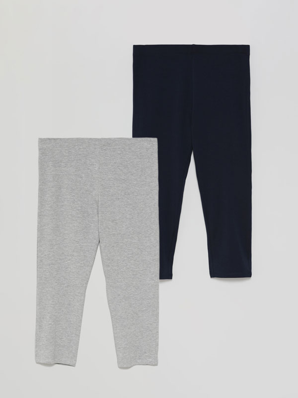 2-Pack of basic short leggings