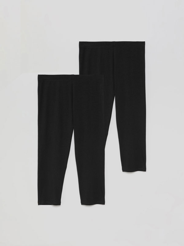 Pack de 2 leggings cortos básicos