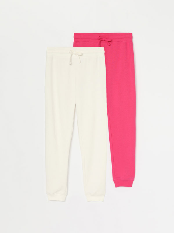 Pack of 2 pairs of basic tracksuits bottoms