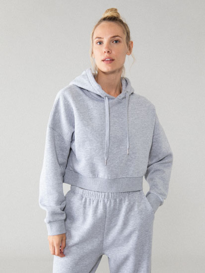 Sweatshirt de fato de treino cropped