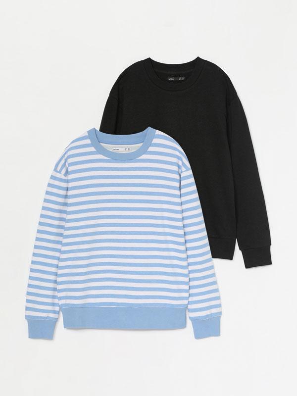 Pack de 2 sweatshirts de fato de treino básicas