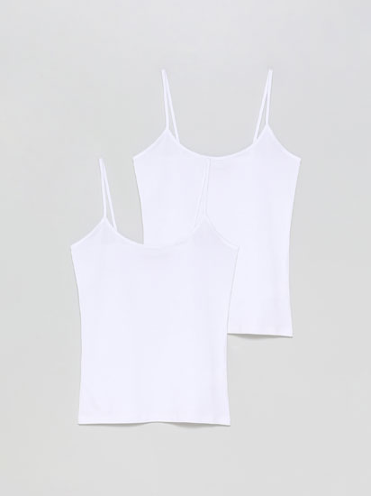 2-Pack of basic fitted tops
