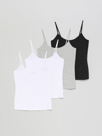 4-pack of basic fitted tops