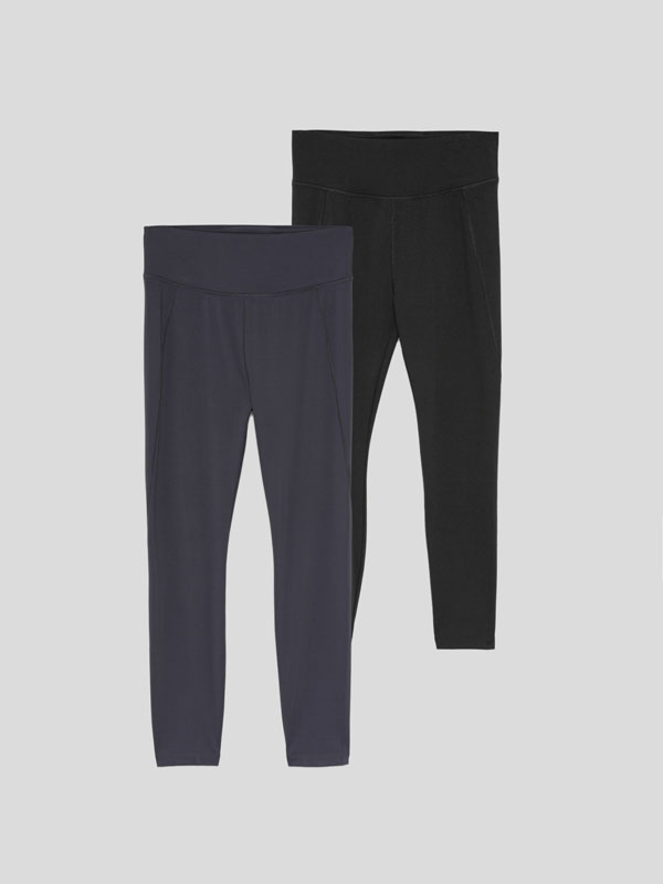 Pack de 2 leggings deportivos lisos